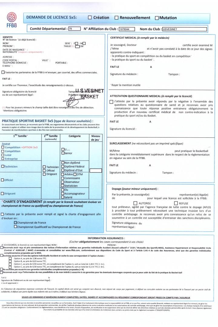 Inscriptions le 30 Juin à Matalou