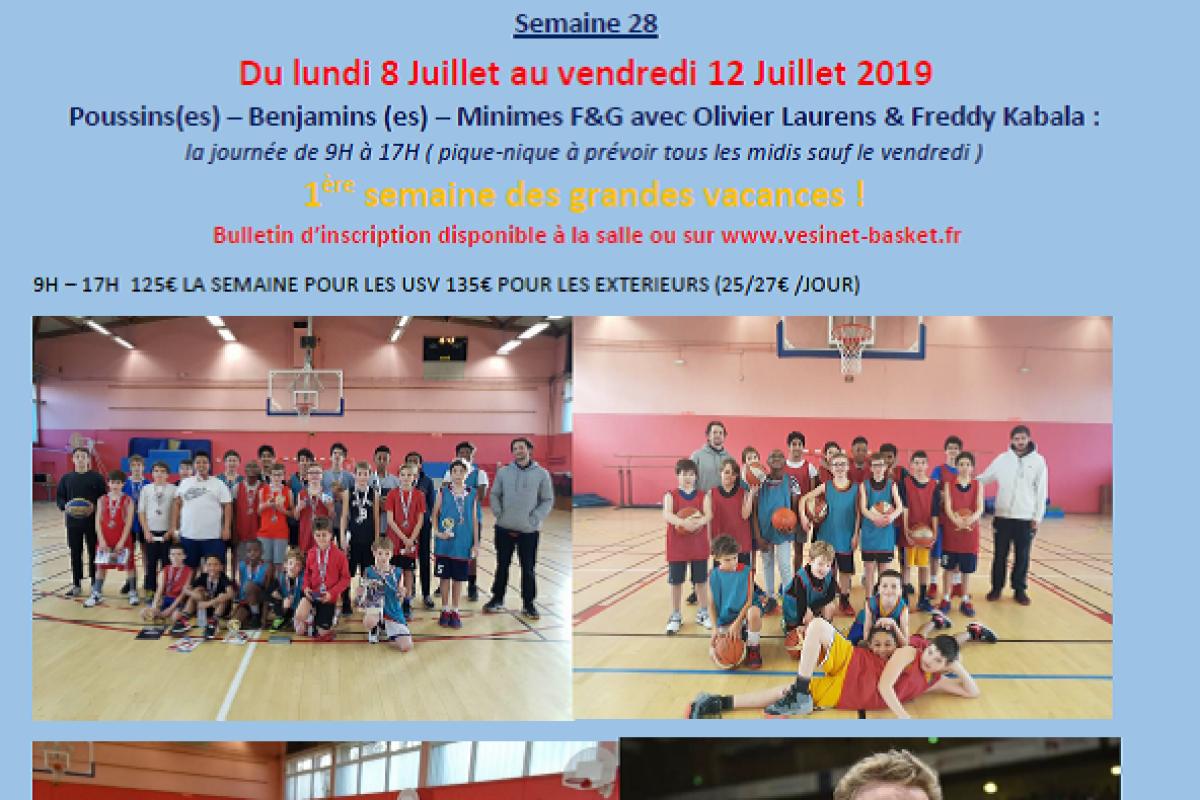 Stage de Basket du Lundi 8 au Vendredi 12 Juillet à Matalou