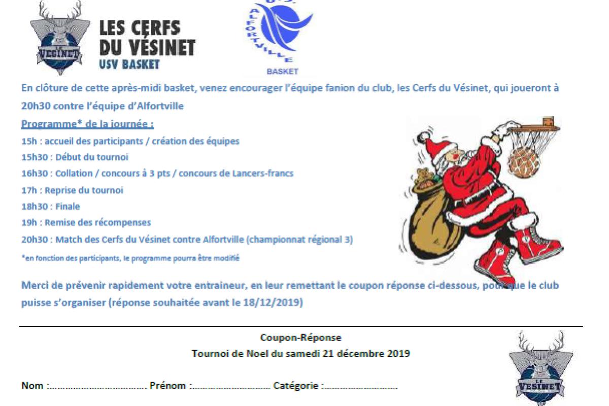 USV Basket – Noël des Cerfs du Vésinet le 21 Décembre